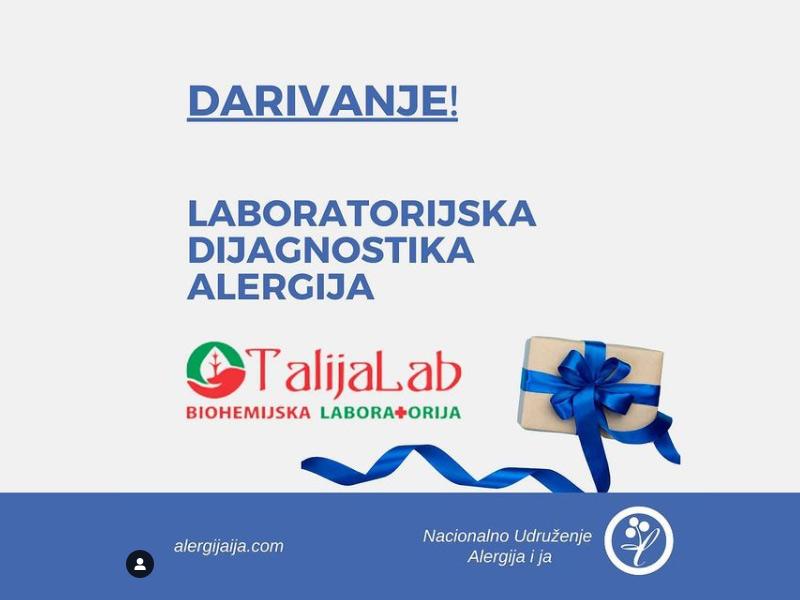 Veliko darivanje – akcija Talijalaba i NU Alergija i ja